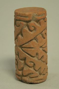 Stamp Roller. Ecuador 9-15th century  Ceramic texture tool  Old tricks!