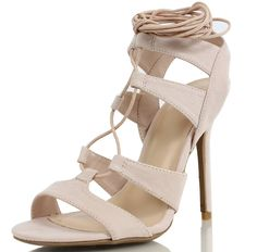 Wild Diva Women's Adele 236 Gladiator Lace Up Open Toe Strappy Ankle Wrap High Heel Pump