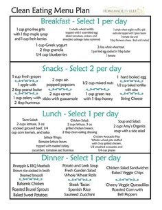 Healthy Diet Clean Eating Meal Plan - Are you wanting a free clean eating meal plan that is easy to use? I've got you covered! With this clean eating meal plan pdf, print it or save to your pc! Clean Eating Recipes, Diet Recipes, Healthy Recipes, Clean Meals, Clean Eating For Beginners, Healthy Snacks, Clean Foods, Healthy Menu, Lunch Snacks