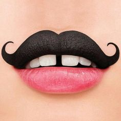 Mustache make up bigode - Kinderschminken - halloween makeup Lip Art, Lipstick Art, Lipsticks, Crayon Lipstick, Maquillage Halloween, Halloween Makeup, Make Up Art, How To Make, Nice Lips