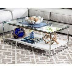 Beau Invite Sleek, Modern Style Into Your Home With The Furniture Of America  Deitie Modern Chrome Coffee Table. The Chrome Frame And Glass Top Of This  Coffee ...