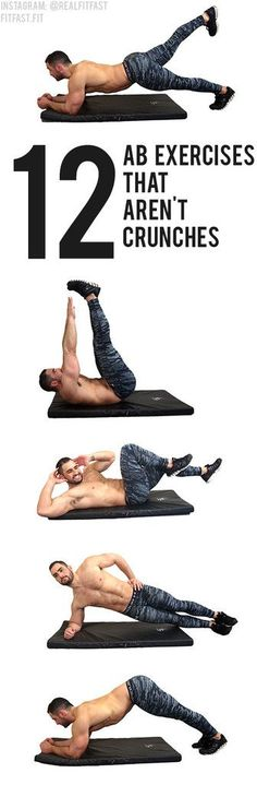 Ready to learn my favorite exercises I use to get my six pack? Exercise board Give these 12 powerful ab exercises a try and never worry about another sit-up or crunch again! Fitness Workouts, Fitness Motivation, At Home Workouts, Fitness Tips, Health Fitness, Workout Bauch, Killer Abs, Six Pack Abs, Flat Abs