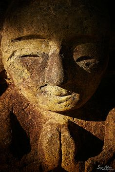 Smiling Jizo statue in Hyogo, Japan