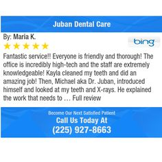 Fantastic service!! Everyone is friendly and thorough! The office is incredibly high-tech...