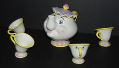 Vintage BEAUTY and the BEAST Tea Set Mrs Potts & by HappyCenturion, $59.95