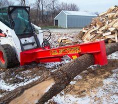 Skid Steer Wood Splitter With Saw Skid Steer Wood