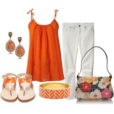 Orange by roseyrose27 on Polyvore