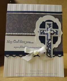 Stampin' & Scrappin' with Stasia: First Holy Communion Card