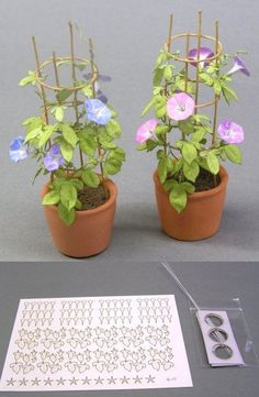 Clay Flowers, Faux Flowers, Paper Flowers, Dollhouse Landscaping, Fairy Garden Plants, Miniature Plants, Mini Plants, Flower Pictures, Handmade Flowers