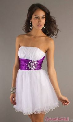 sweet 16 dress short HOT PINK LACE or BELT/WAISTBAND, instead of purple. Whatever you call it! xD