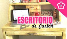 Escritorio de cartón apariencia de Madera DIY Tocador | Muebles de cartó...