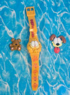 Changeable GARFIELD Watch Digital with Odie and by RadloveVintage, $25.00