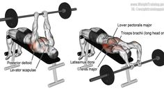 Decline bent-arm barbell pullover exercise