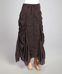 Another great find on #zulily! Charcoal Ruched Maxi Skirt - Women by Sweet Sinammon #zulilyfinds