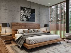 Say hello to Hiro. Crafted with Japanese design influence, this platform bed is composed of acacia wood and steel legs for a modern flair this is artfully timeless. Wood Bed Design, Bedroom Bed Design, Bedroom Furniture Design, Modern Bedroom Design, Home Room Design, Home Decor Bedroom, Bedroom Ideas, Bedroom Styles, Bedroom Designs
