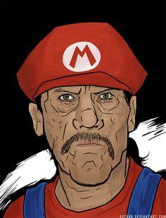 'Danny Trejo as Mario', de *Art-of-Bob.