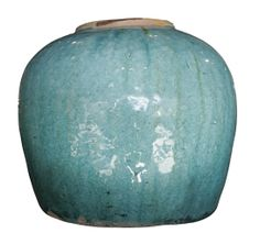 turquoise pickle pot