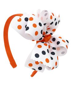 Another great find on #zulily! Fairy Bow Mother Halloween Dot Double Layer Bow Headband by Fairy Bow Mother #zulilyfinds
