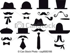 Man with Mustache Clip Art | , stock clip art icon, stock clipart icons, logo, line art ...