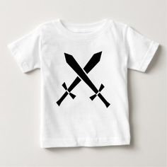 swords baby T-Shirt - click/tap to personalize and buy Stylish Baby, Baby Shirts, Swords, Weapon, T Shirt, Stuff To Buy, Shopping, Tops, Supreme T Shirt