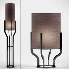 CROWN floor and table lamps by roche bobois