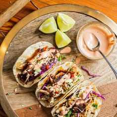 Valine's Famous Fish Tacos. Recipe from Valine's Famous Cocktail Sauce, Columbia, SC. Photo by Andrew Cebulka.