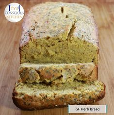 What You Will Need This recipe yields 1 loaf. Ingredients 4 cups Chickpea Flour 1 cups Sparkling Spring Water cup Alkaline Electric Date Syrup 3 tbsp. Sin Gluten, Gluten Free Recipes, Vegan Recipes, Entree Recipes, Alkaline Breakfast, Diet Breakfast, Dr Sebi Recipes, Alkaline Diet Recipes, Herb Bread