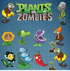 Plants vs Zombies SVG, Instant Download,Decals, layered cutting file in SVG and AI format Silhouette, Cricut by bulgraphics on Etsy