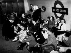 In London, many underground subway stations were used as mass air raid shelters during the second world war. In the above picture, people seek shelter in London's Bounds Green station in 1940. S)
