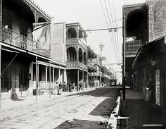 Royal Street, New Orleans, c1900, Vintage Photo (I have worked on this street, in a beautiful millinery shop)
