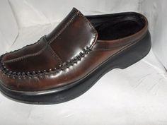 Dansko womens brown leather mules size 38/7.5  #Dansko #NursingUniform