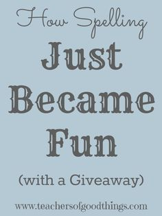How Spelling Just Became Fun with a Giveaway