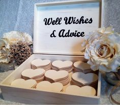 Customized Large Wedding Guest Book Box Alternative Shabby Chic Rustic Advice…