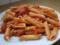 Fotorecept: Paradajková omáčka na cestoviny Carrots, Pasta, Chicken, Meat, Vegetables, Cooking, Food, Cuisine, Kitchen