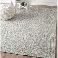 Canton Salt/Pepper Indoor/Outdoor Area Rug & Reviews | AllModern