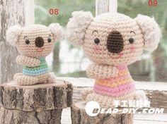 Free Amigurumi Koala Pattern : Pattern crochet koala pattern amigurumi koala pattern koala