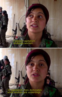 Very Femme and Anti-Fascist YPJ Kurdish Female Fighters: A Day in Syria (x)
