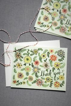 Vintage Garden 'Thank You' Cards in 'Multi' by Anna Bond For Rifle Paper Co. From BHLDN.com