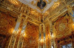 Ornate walls of the Amber Room