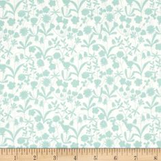 Bluebell Wood Little Flowers Cream from @fabricdotcom  Designed by Lewis and Irene, this nature inspired cotton print fabric is perfect for quilting, apparel and home decor accents. Colors include blue and cream.