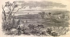 """""""Munson's Hill, the Advance Post of the Rebel Army on the Potomac,"""" Harper's Weekly, Oct. 5, 1861 (courtesy of sonofthesouth.net)."""