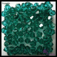 Artisanales Verre couleur Vert 4 Perles Coeur 15mm x 10mm
