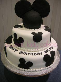 Black and White Disney Cake