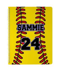 Fastpitch Personalized Custom Girls Softball Sports Spiral Notebook - Journal Writing School Homework Girls Softball, In Writing, Journal Notebook, Kid Names, Homework, Summer Fun, Spiral, Initials, Notes