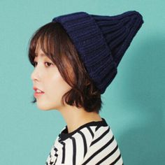 YOCCAS The Tide Of Autumn And Winter Hat Korean Male Ladies Fashion Pointed  Cute Warm Nipple b7c8e58e5ab
