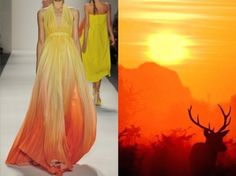 Son Jung Wan S/S 2013 & A male Red Deer silhouetted against the sunrise early one morning. Photo by Joseph Kellard. Collage by Liliya Hudyakova. What Is Fashion, Look Fashion, Fashion Photo, Fashion Art, Hijab Fashion Inspiration, Mode Inspiration, Dress Illustration, Fashion Portfolio, Fashion Design Sketches