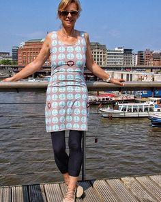 Liebe Grüße aus #Hamburg heute in meinem neuen Kleid #nähdirdeinkleid #rosa_und_das_einfache_leben #lillestoff #hafenliebe #nähenmachtspass #nähen #nähenisttoll #ankerliebe