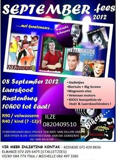 Rustenburg September Fees