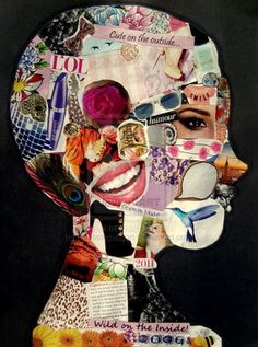 17 Creative Ways to Introduce Yourself to Your Students This Year 17 Unique Ways for Teachers to Introduce Yourself to Your Students<br> You only get one chance to make first impression. Paper Collage Art, Collage Artwork, Paper Art, Collages, Wal Art, Collage Portrait, Portraits, Photocollage, Middle School Art