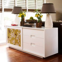 Great ideas for decorating a small apartment ooo if we could find a sliding door dresser thing might be a nice upgrade for the cat litter